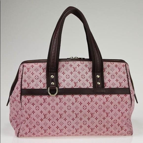 23c44c218baa Louis Vuitton Handbags - Cherry Red Mini Lin Monogram Canvas Josephine GM